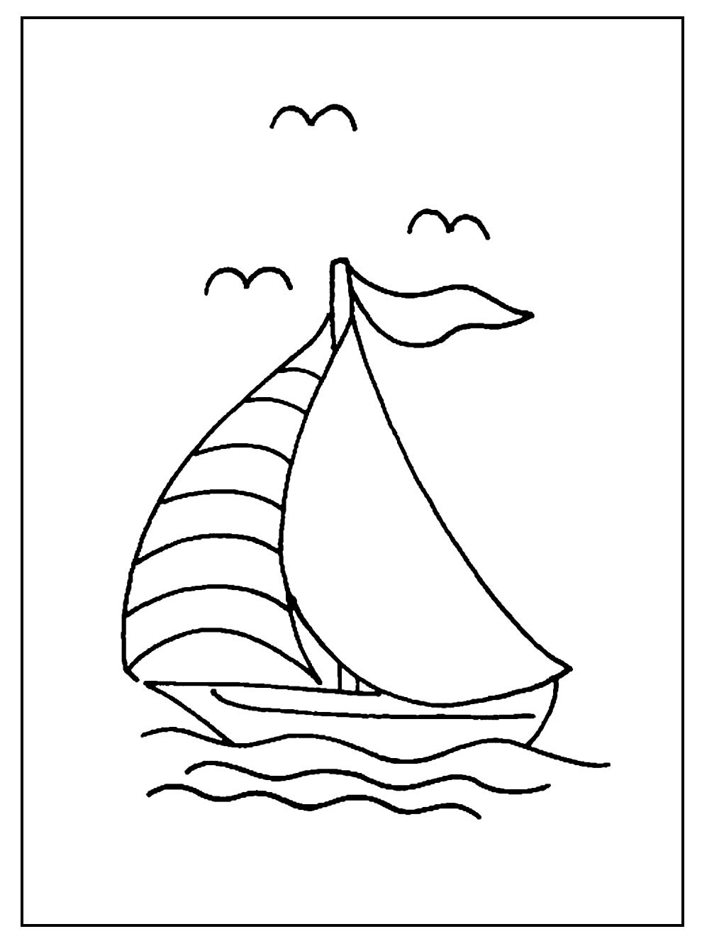 Desenho de Barquinho para colorir