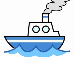 Desenhos de Barcos para colorir e pintar
