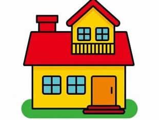 Desenhos de Casas para colorir