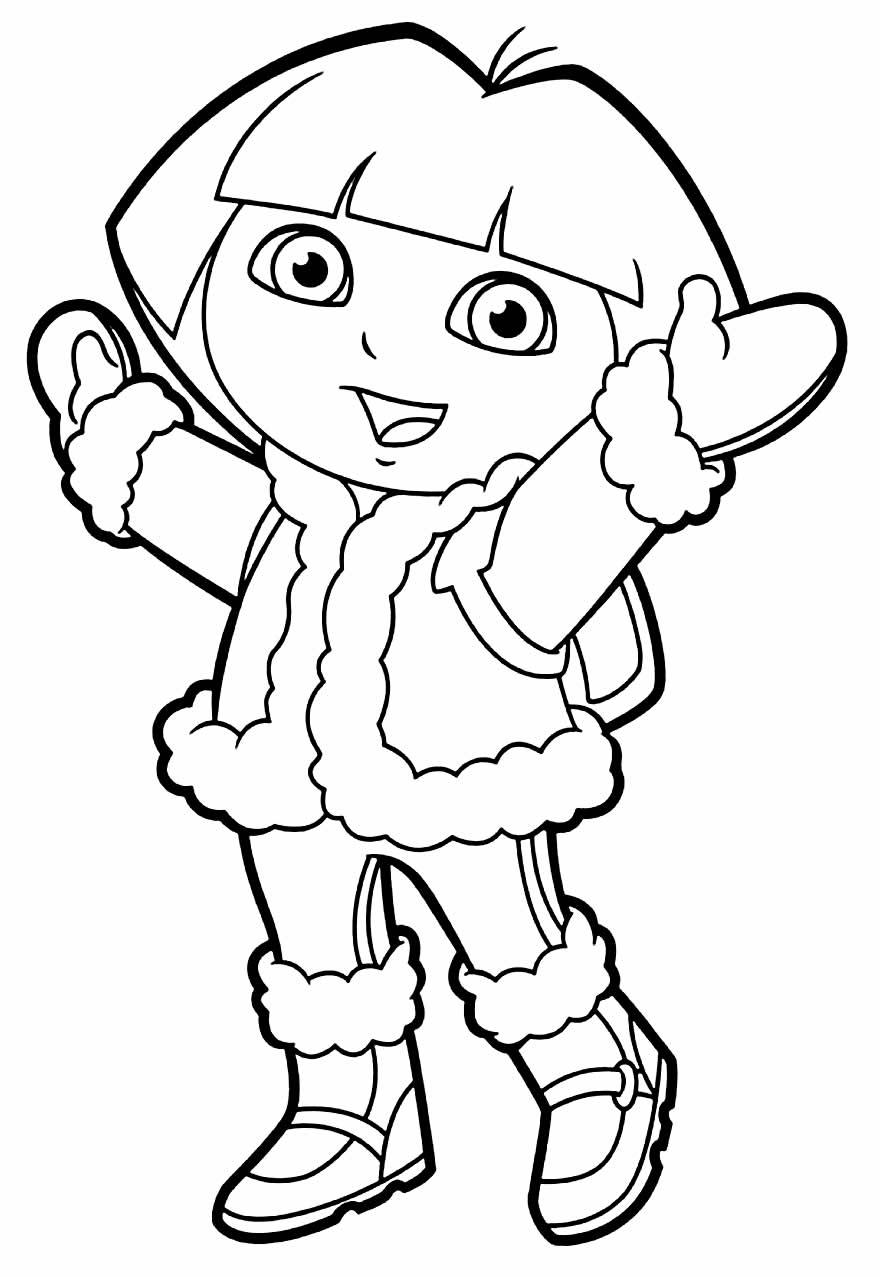 Desenho para pintar de Dora Aventureira