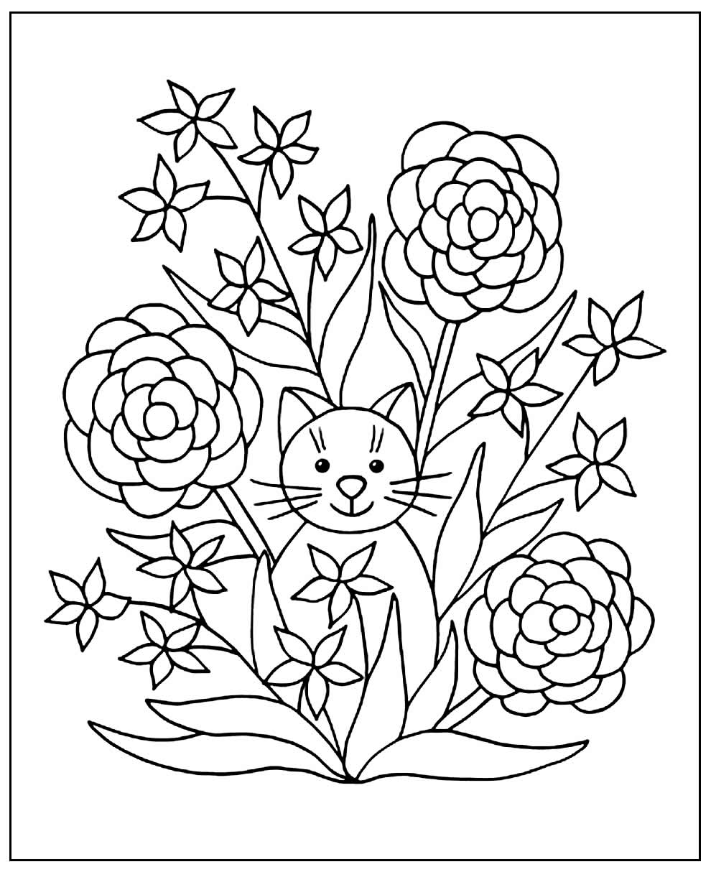 Imagens de Flores para colorir