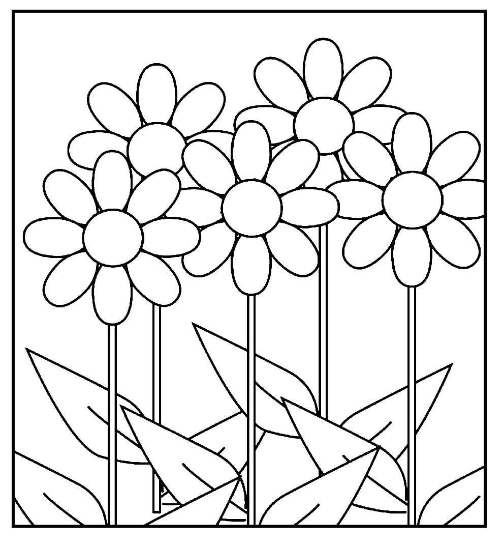 Páginas para pintar de Flores