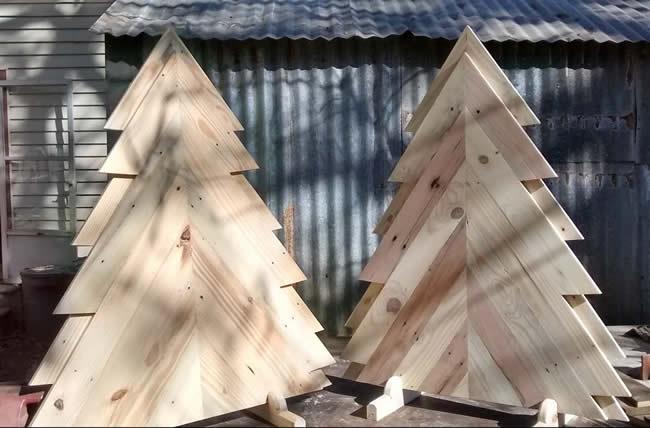 Decoração de Natal com pallets