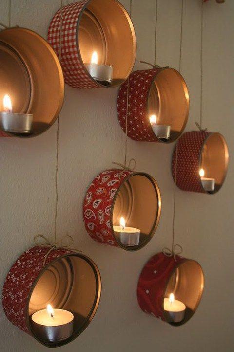 candelabros com latas