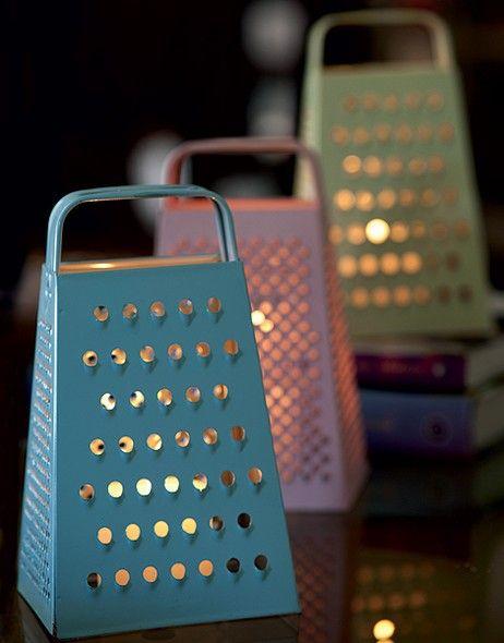 luminárias com ralador de cozinha