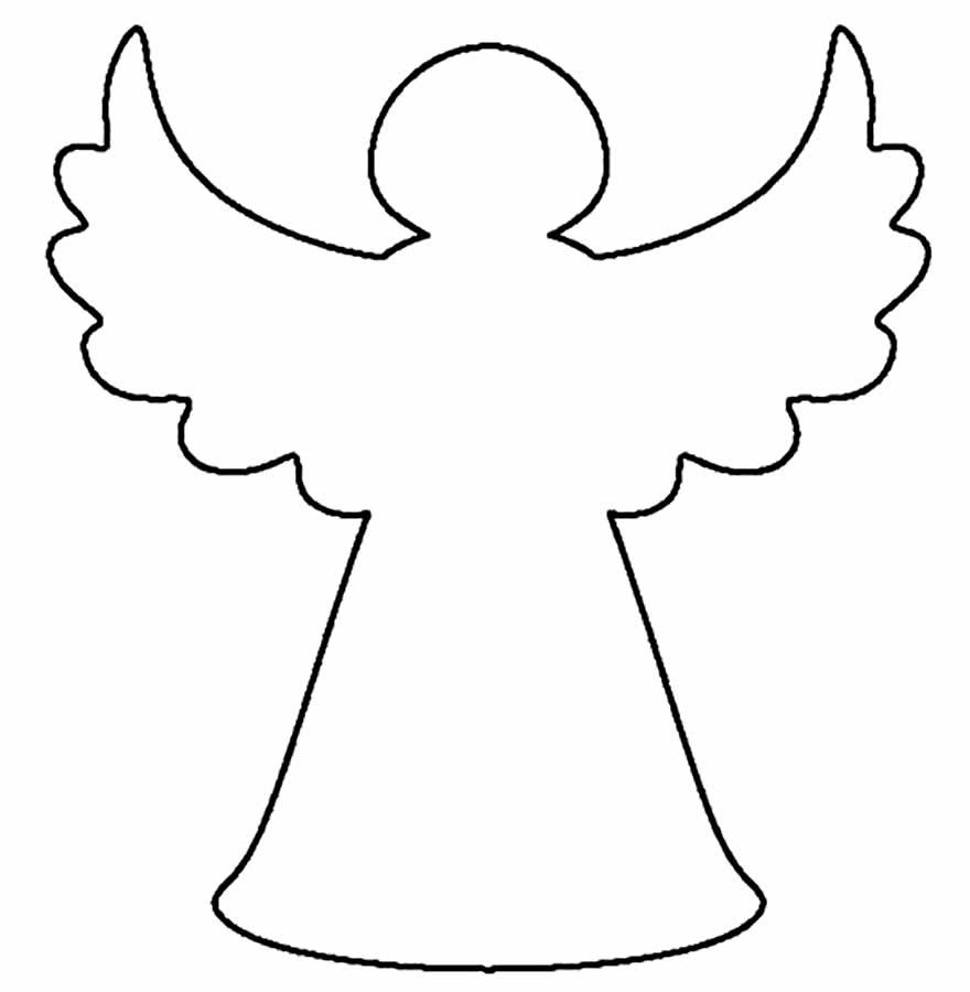 Molde de anjinho para imprimir