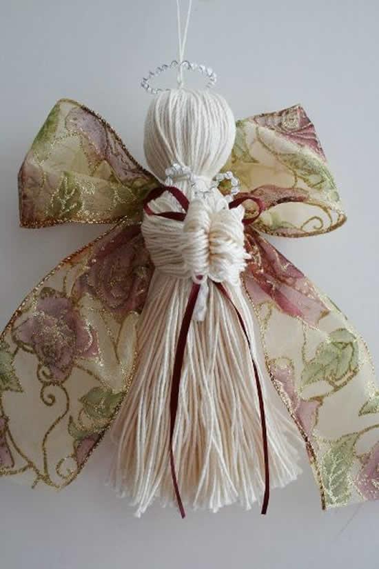 Anjinho lindo com tecido