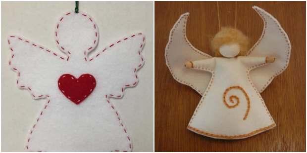 Moldes para fazer anjinhos de tecido