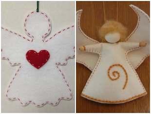 Anjinhos de tecido com moldes para fazer em casa