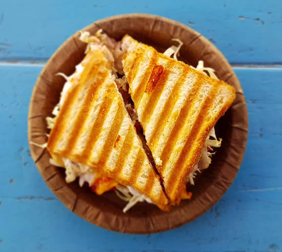 Lanche para fazer na sanduicheira