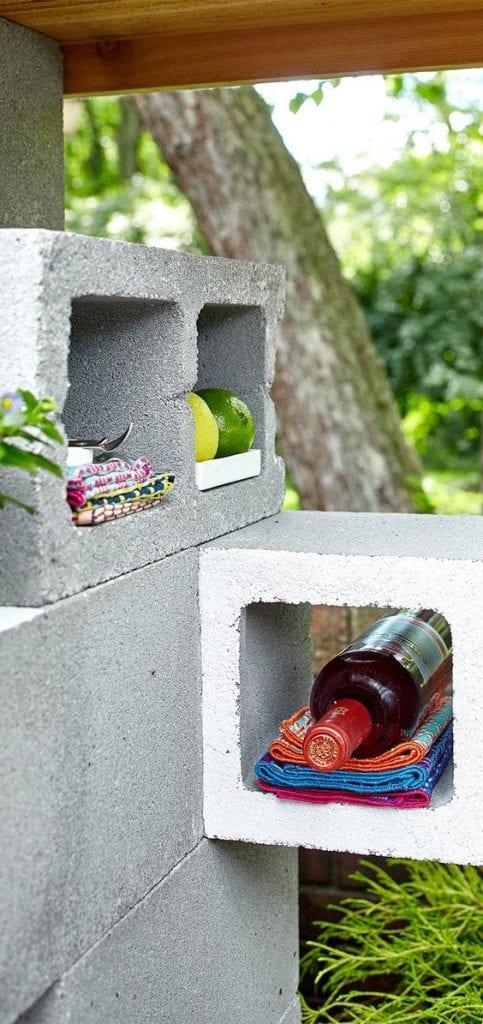 adega com blocos de concreto
