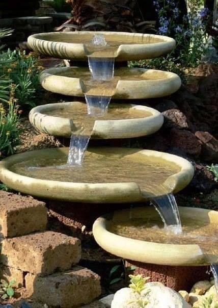 como fazer fonte de agua em casa