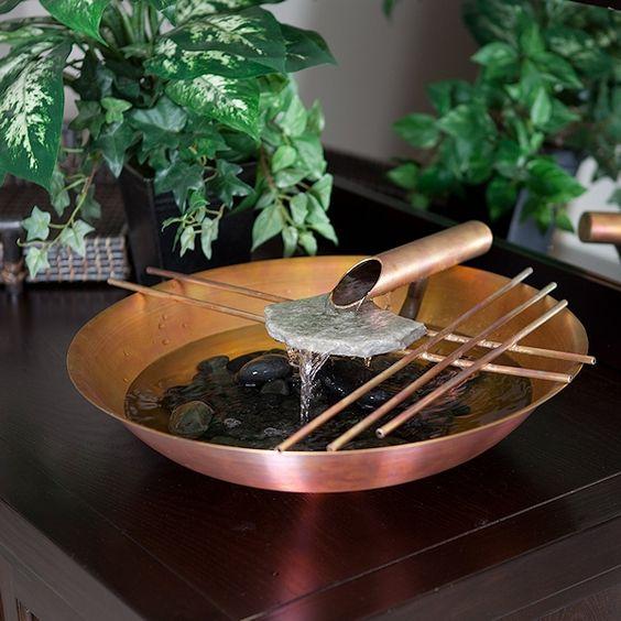 fonte com bacia de cobre