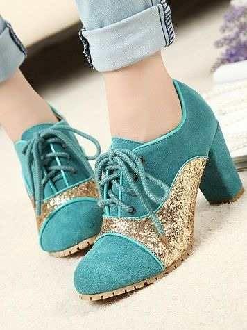 sapatos com glitter