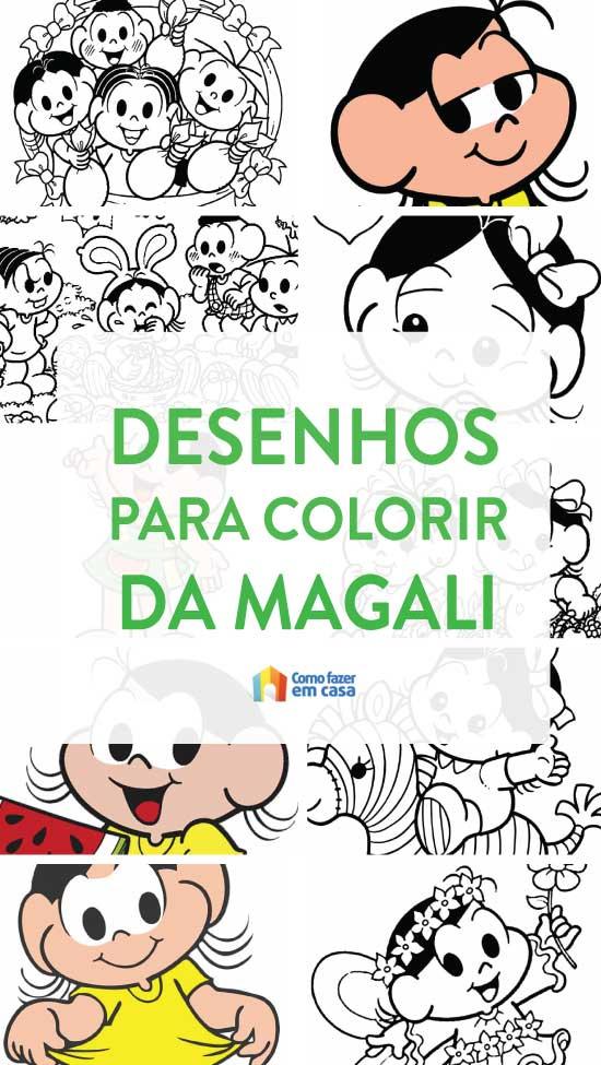 Desenhos para colorir da Magali