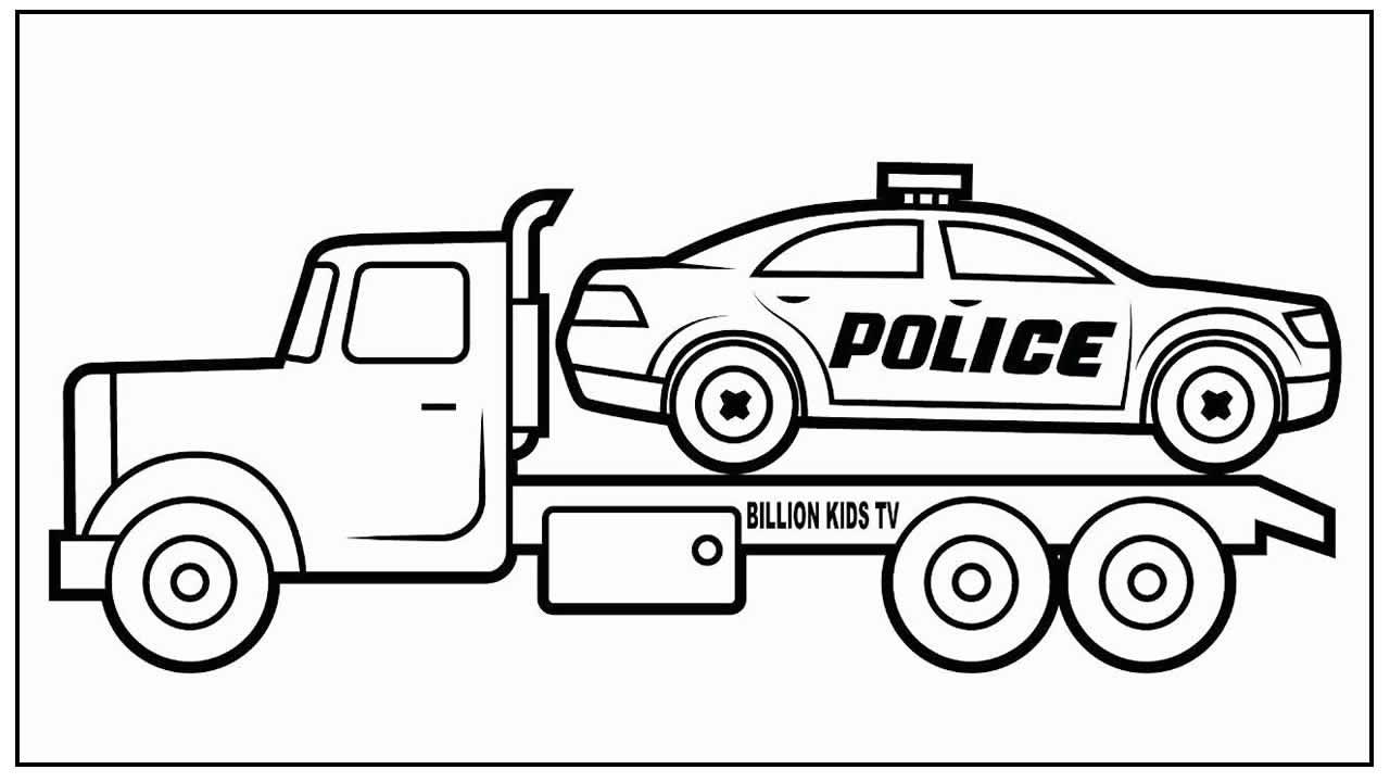 Página para colorir de Carro de Polícia