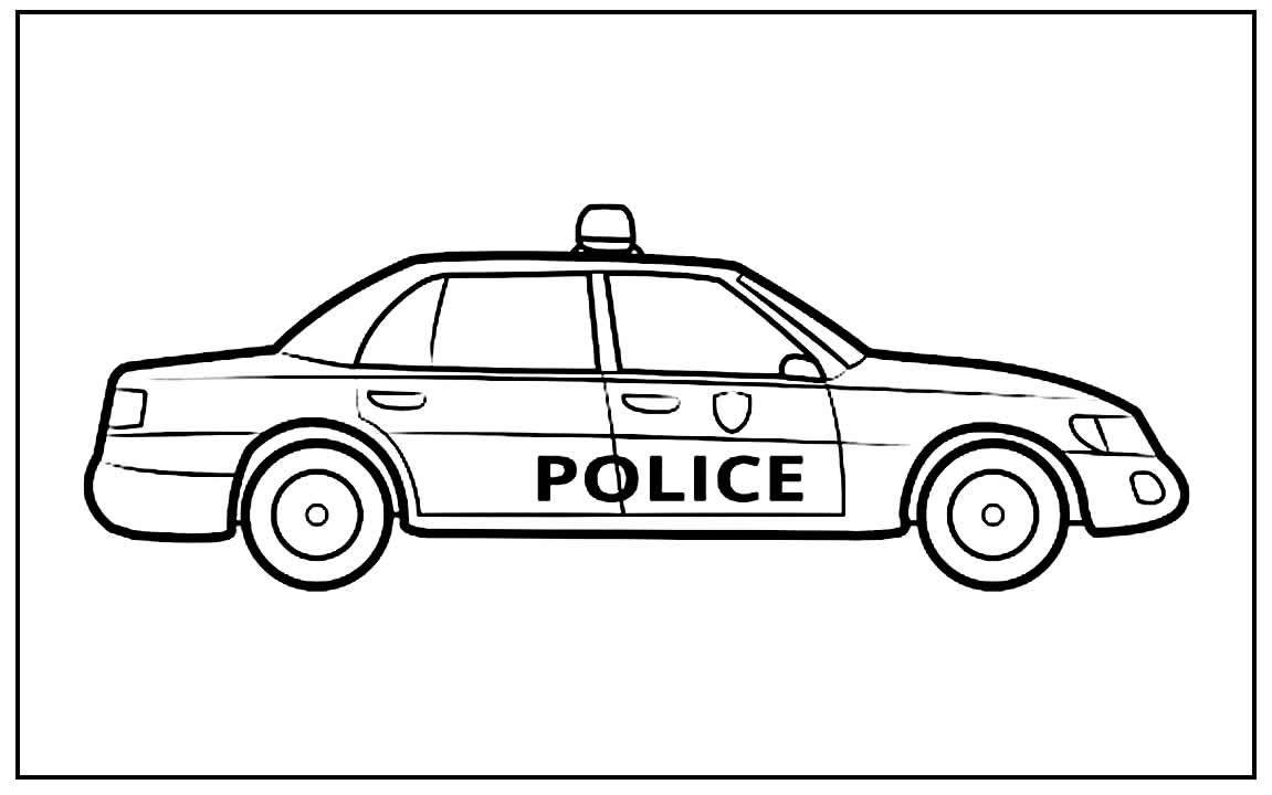 Desenho de Carro de Polícia
