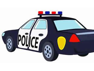 Desenhos de Carros de Polícia para colorir e pintar