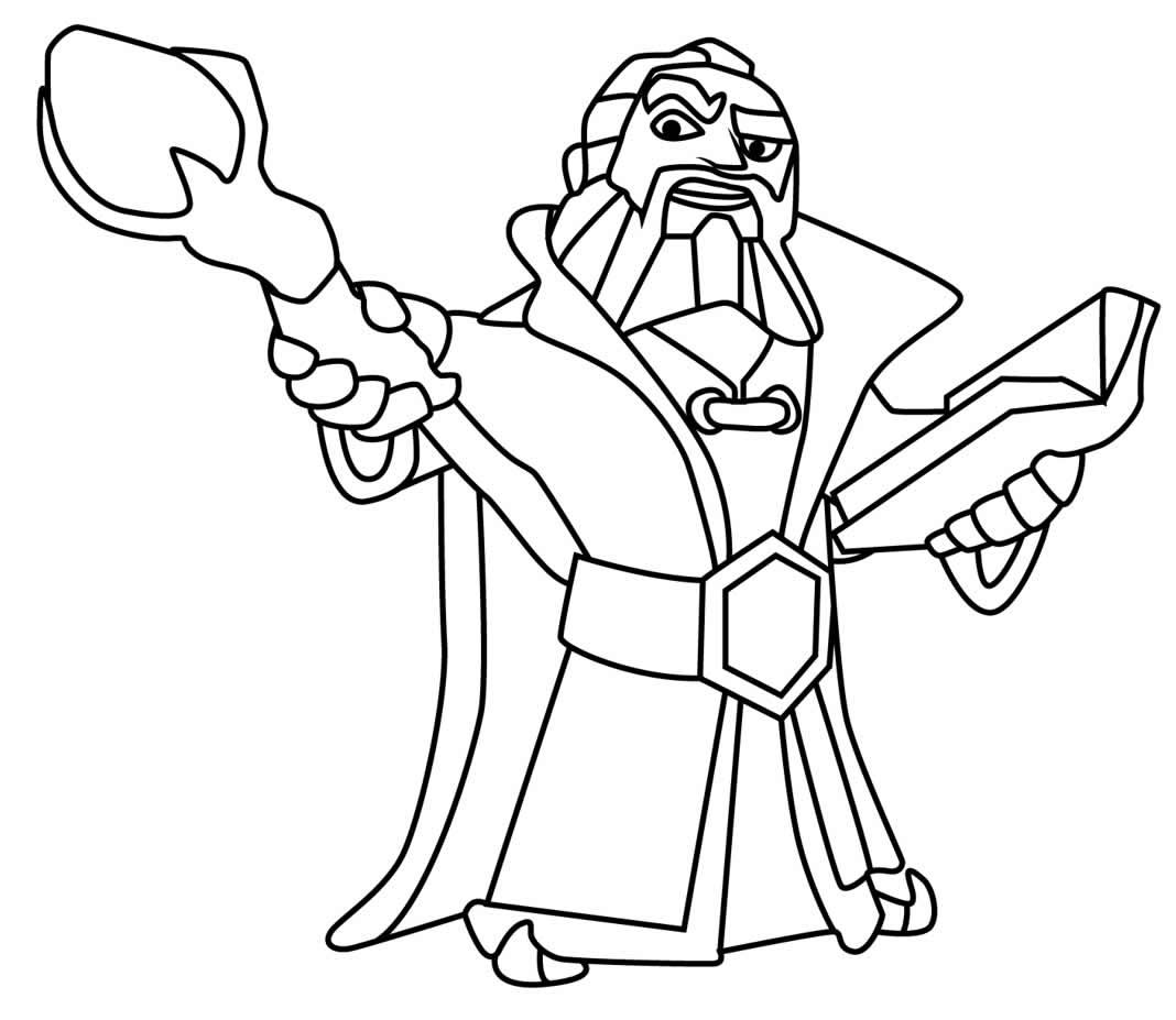 Desenho lindo de Clash of Clans