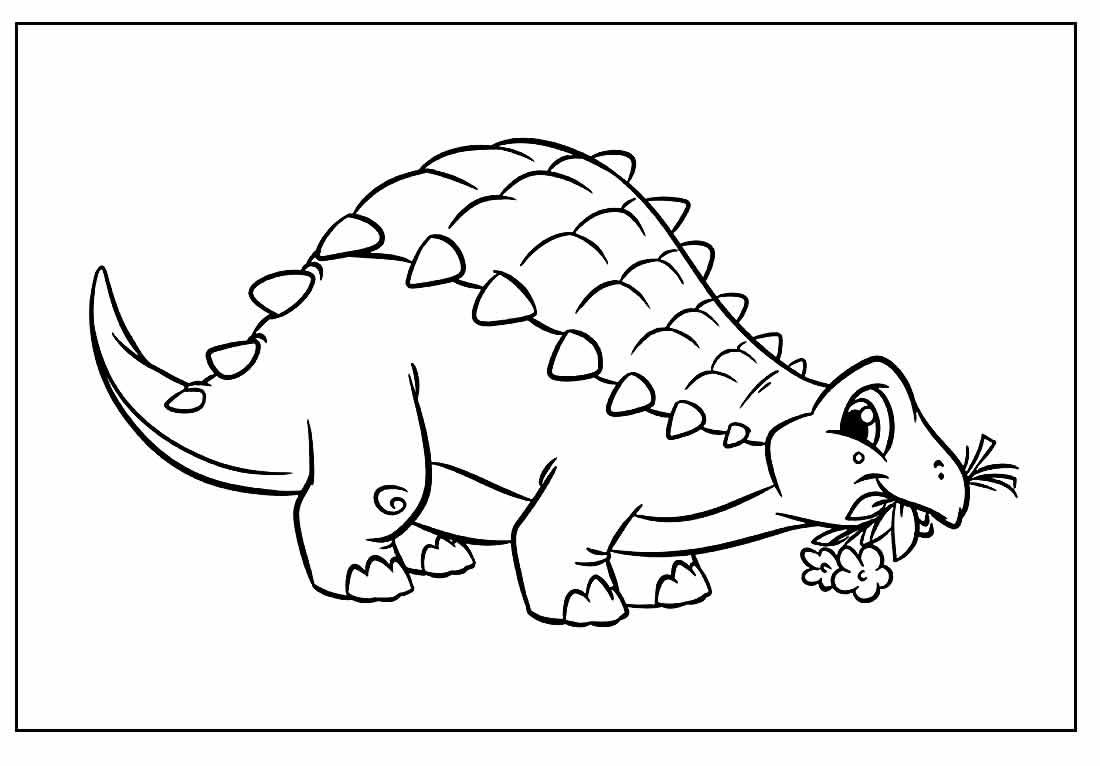 Imagem para colorir de Dinossauro