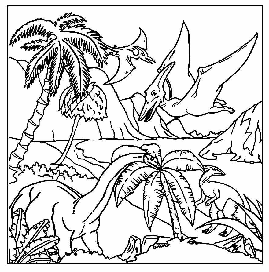 Imagem para pintar de Dinossauro