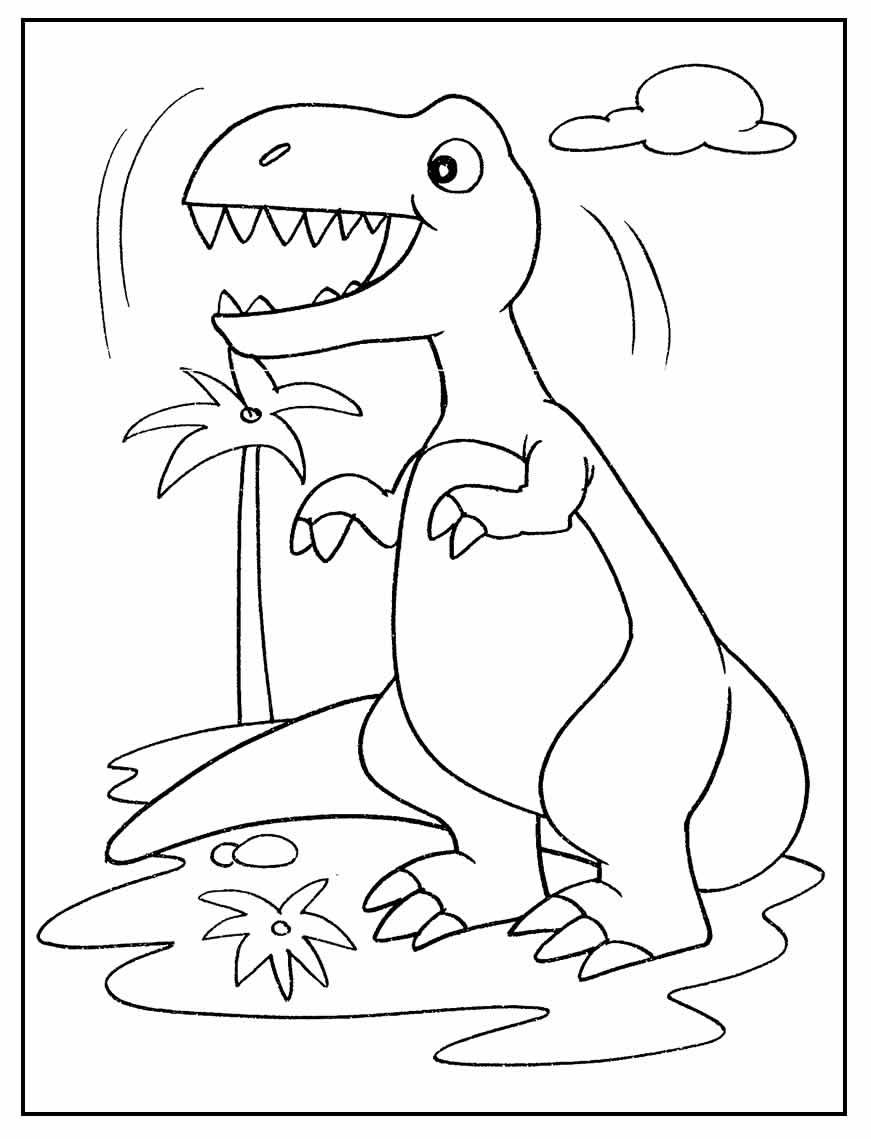 Desenho para colorir de Dinossauro