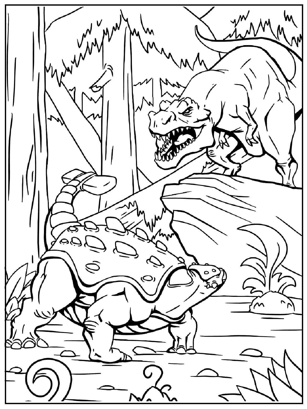 Desenho para colorir de Dinossauros