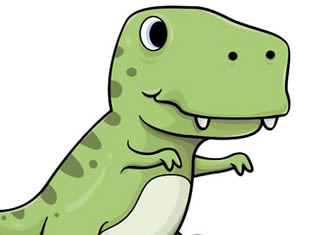 Desenhos de Dinossauro para colorir