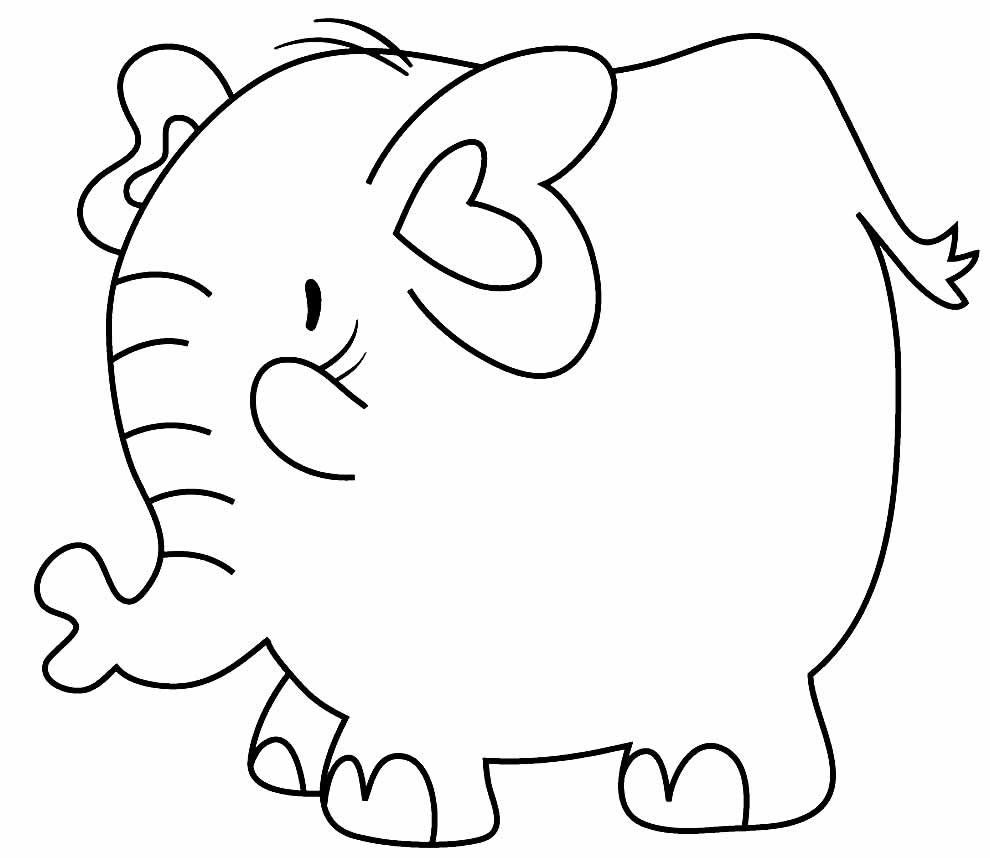 Lindo desenho de Elefante para colorir