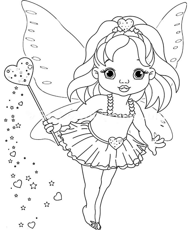 Desenho fofo de Fada