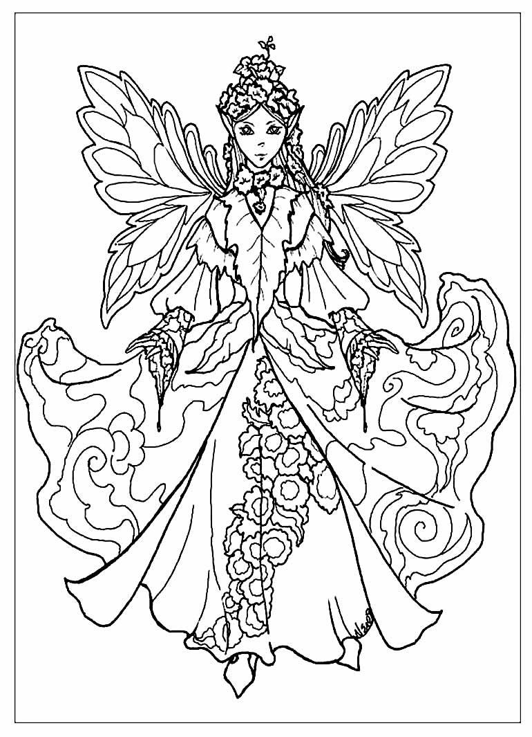 Desenho de Fada para colorir