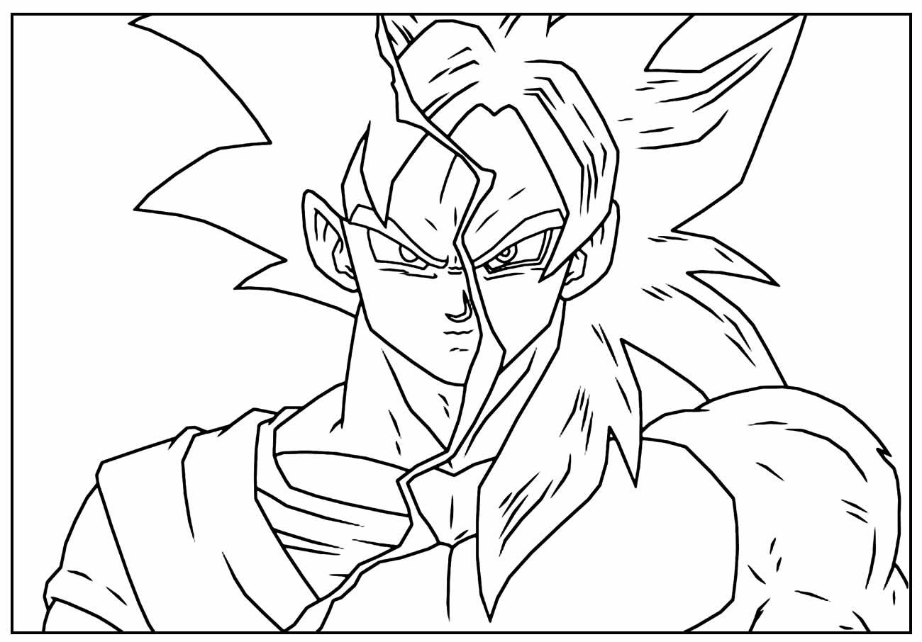 Desenho para colorir Goku