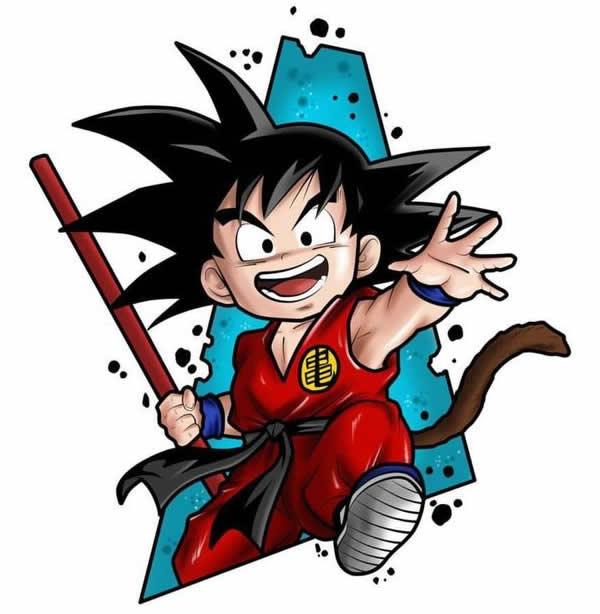Desenhos de Goku para colorir