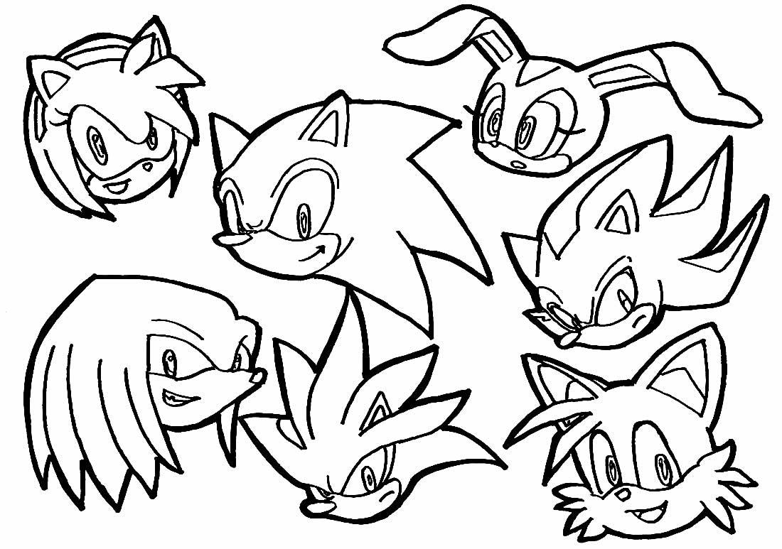 Desenho Sonic para colorir