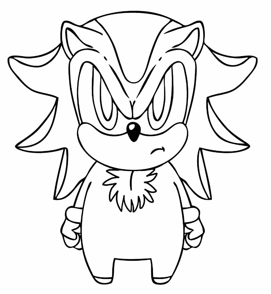 Desenho de Sonic para colorir