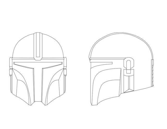 capacete do mandalorian