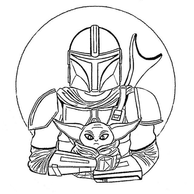 Desenhos do Mandalorian para colorir