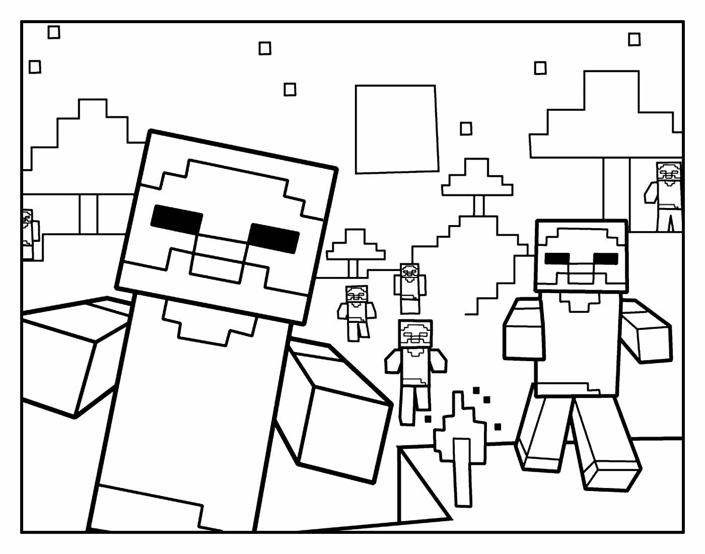 Desenhos Minecraft para colorir