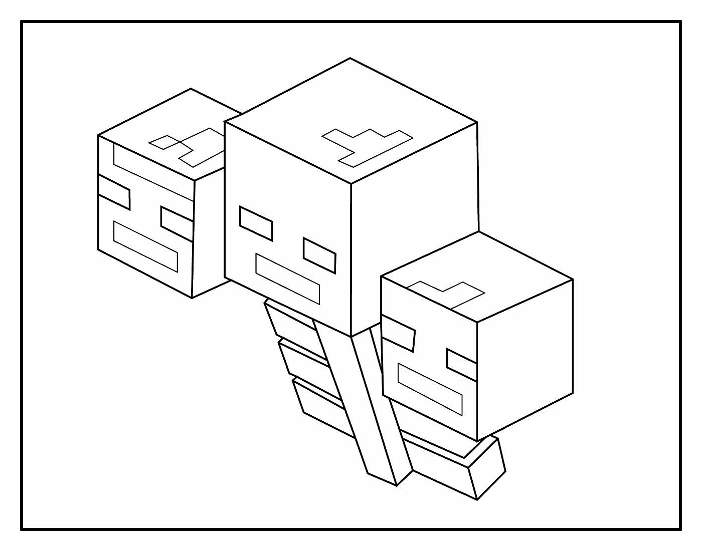 Página para colorir de Minecraft