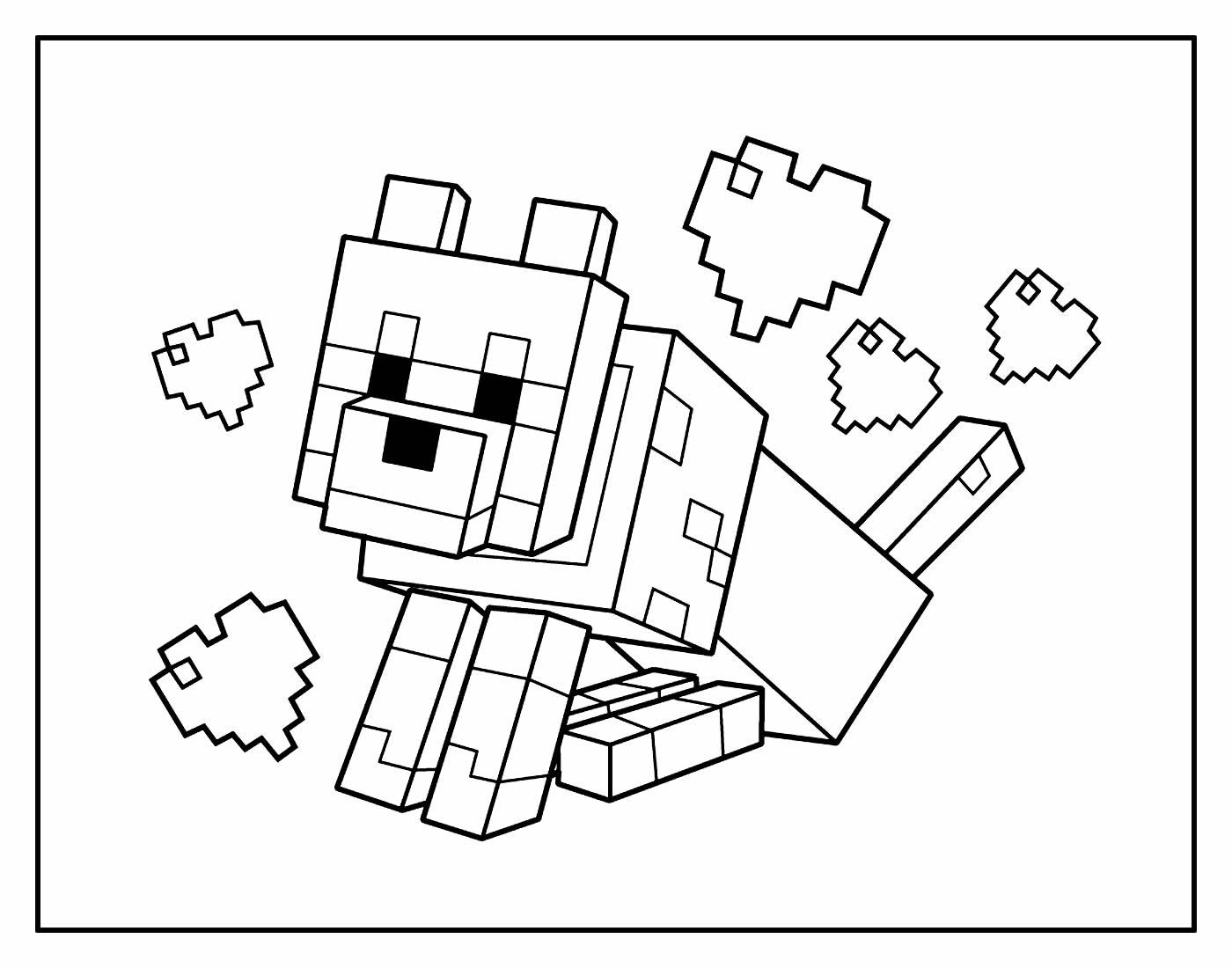 Desenho para colorir de Minecraft