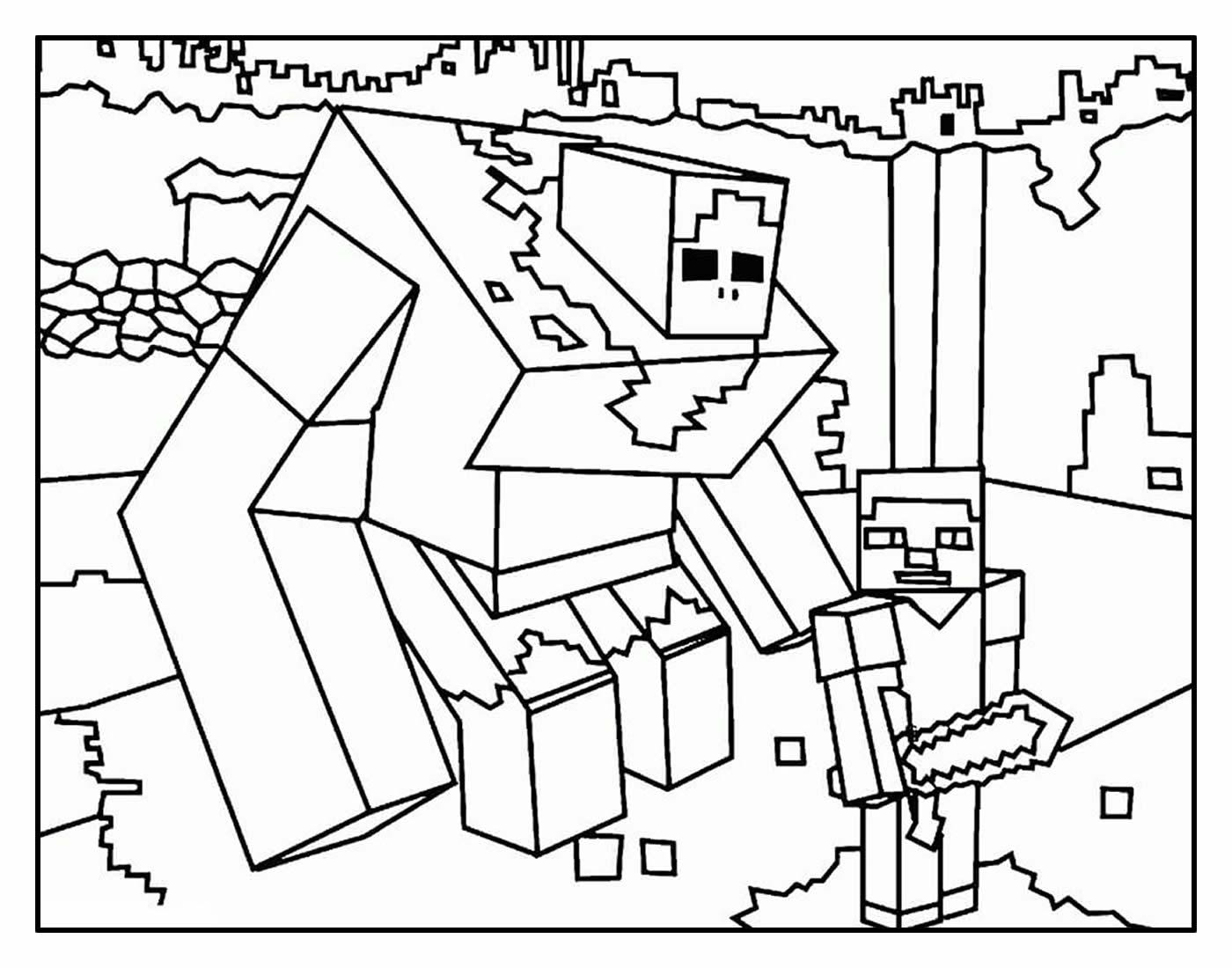 Desenho para colorir Minecraft