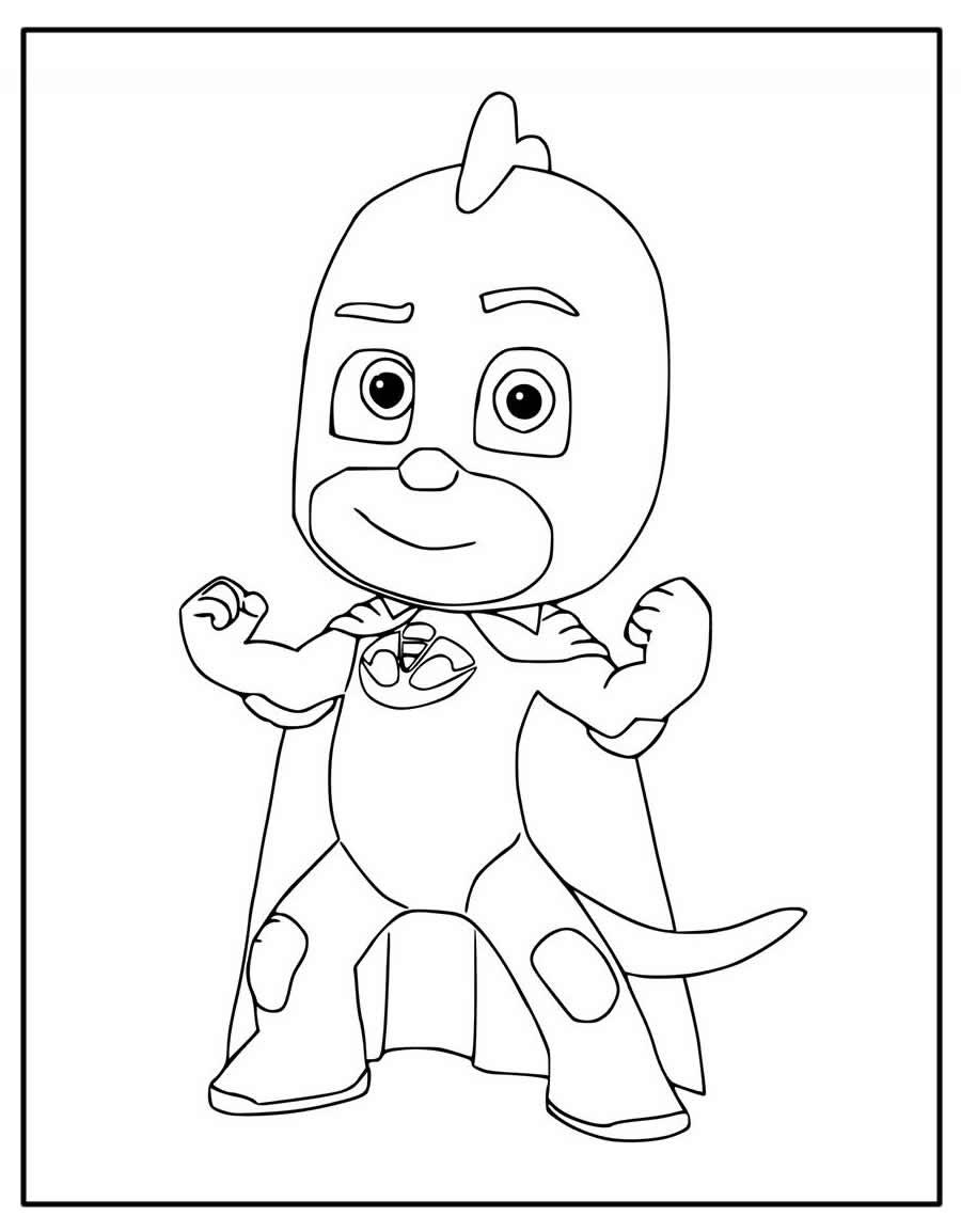 Páginas para colorir de PJ Masks