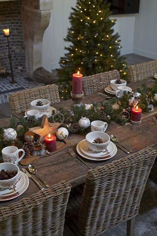 Linda decoração para mesa de Natal