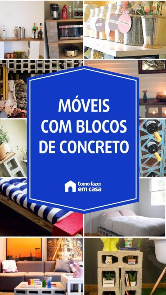 móveis com blocos de concreto
