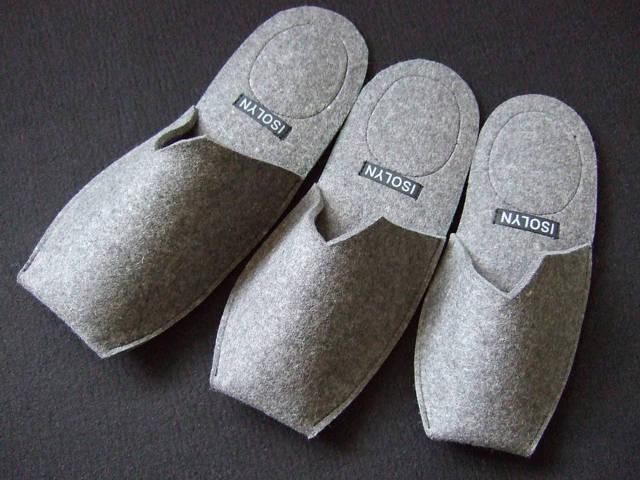 calçados em feltro