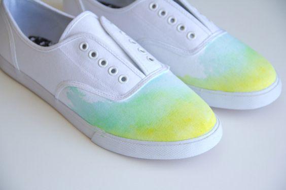 sapatos ombre customizar sapatos