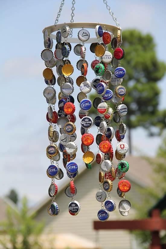 artesanato com tampa de garrafa
