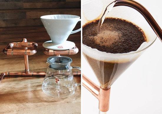 coador de café com canos
