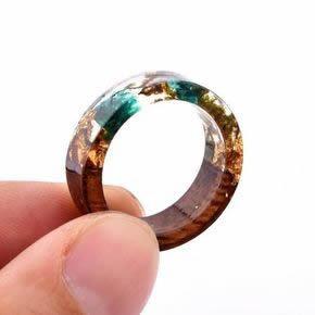 como fazer anéis de resina de poliéster