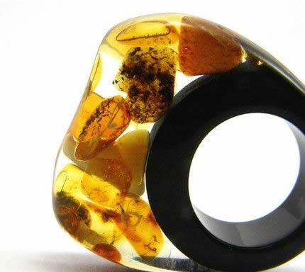 anel de resina